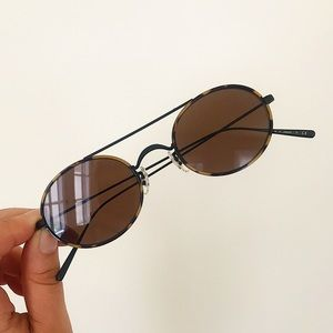 Oliver Peoples Shai in Matte Black/DTBK + Brown